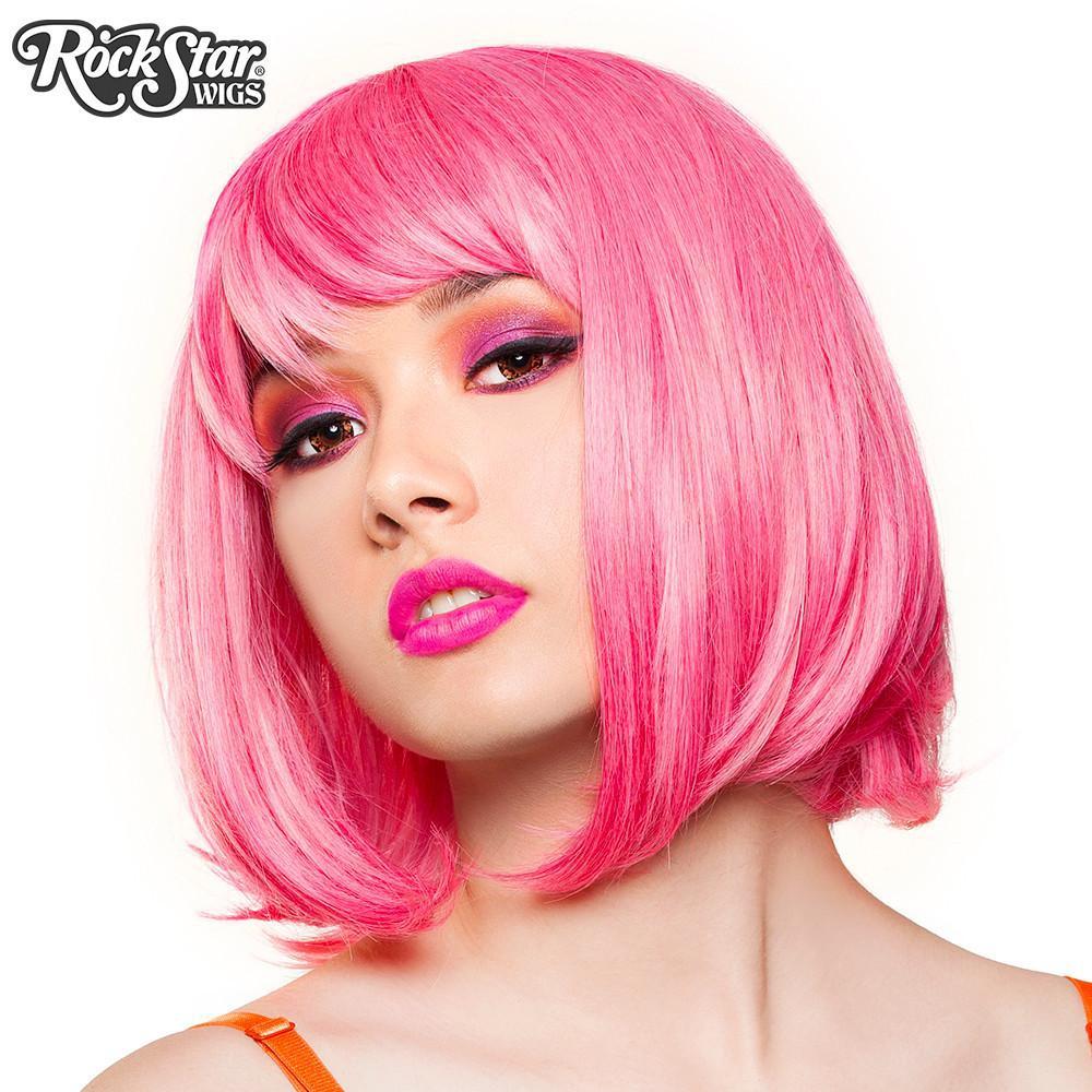 Perruque courte rose femme et homme