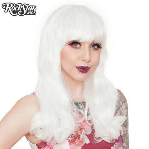 perruque blanche à boucle femme et homme