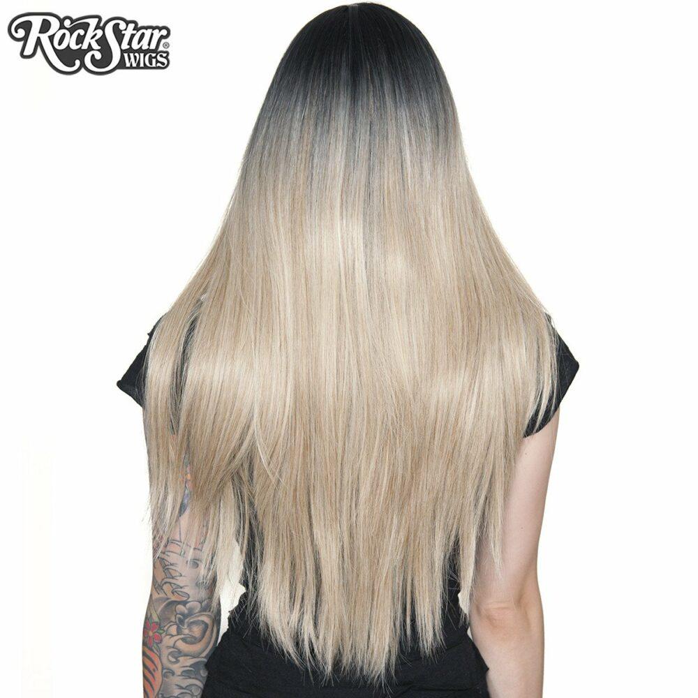 perruque blonde noire bella racine de dos