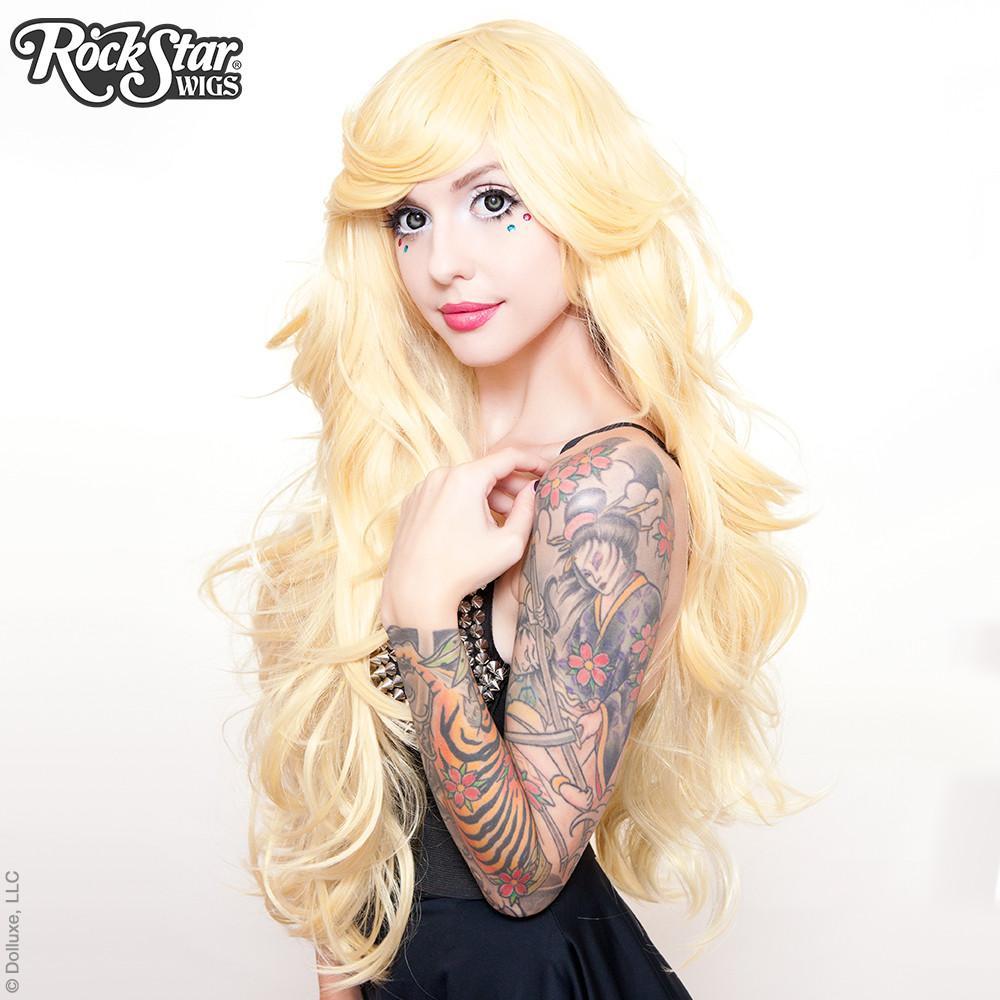 perruque longue blonde drag queen