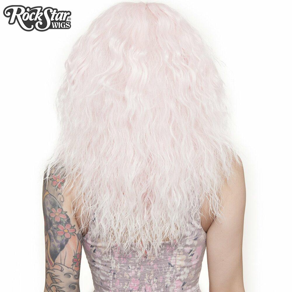 Perruque rose blanc rhapsody arrière coupe droite