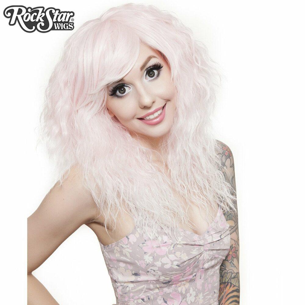 perruque rose blanc rhapsody femme homme