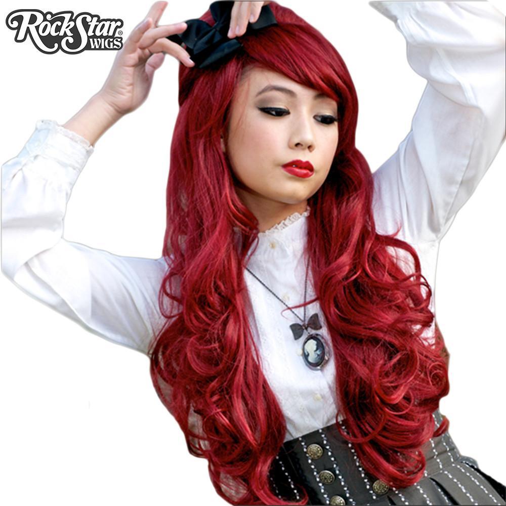 perruque bordeaux Hime Lolita