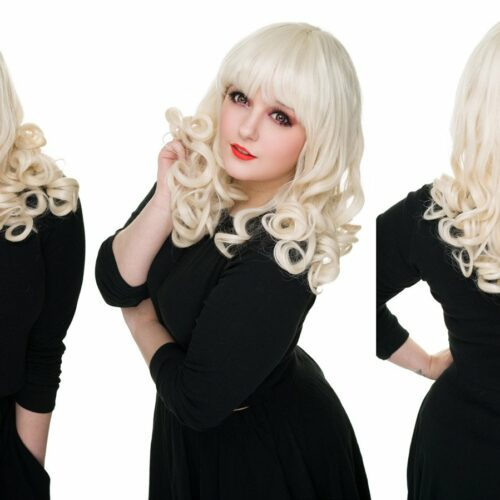Perruque blonde pin up cosplay drag queen