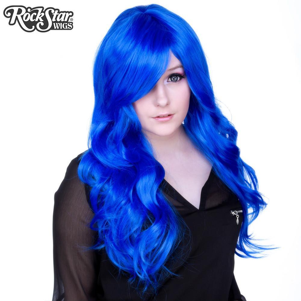 Perruque bleu royal rupaul et femme