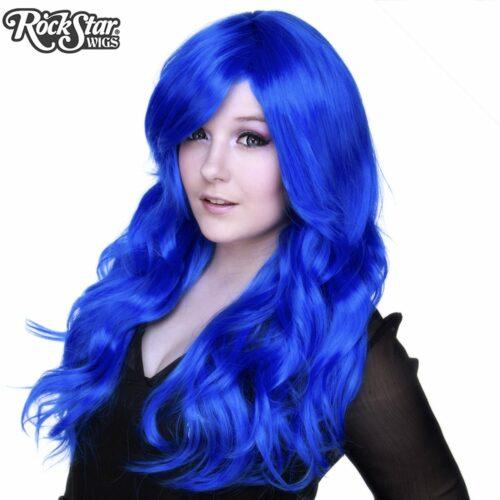 Perruque bleu royal drag queen