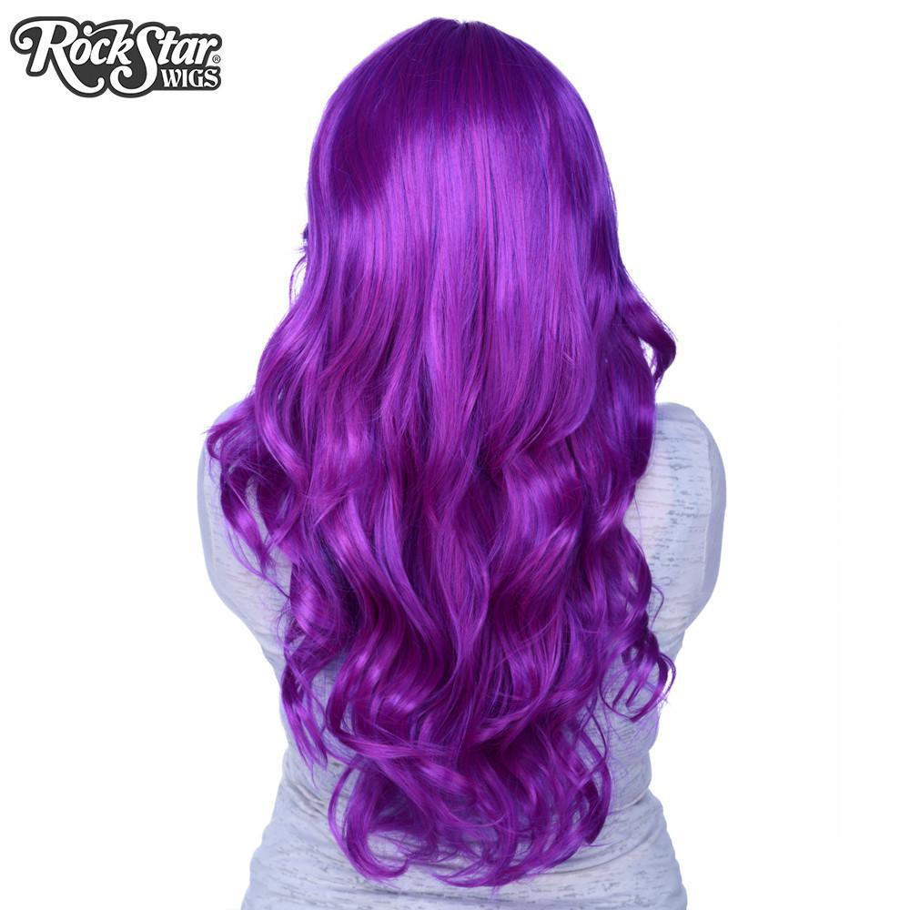 perruque violette farrah de dos