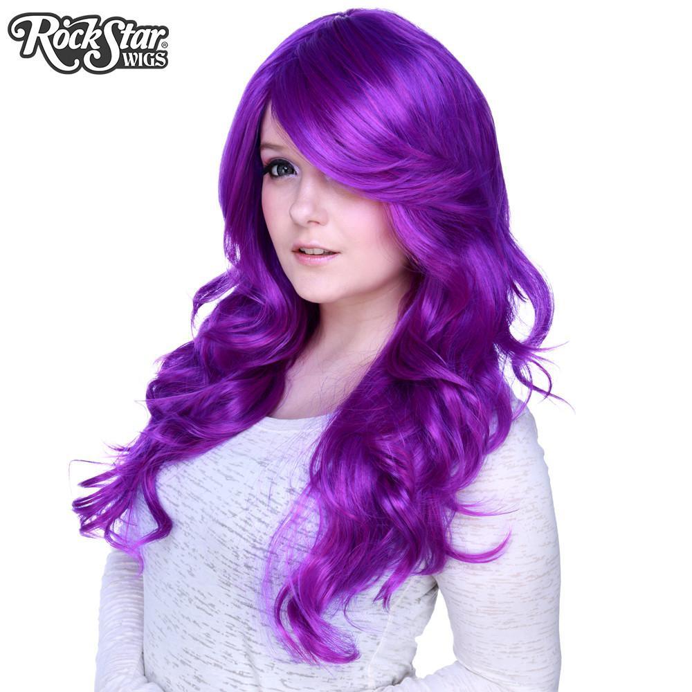 Perruque violette rupaul et femme