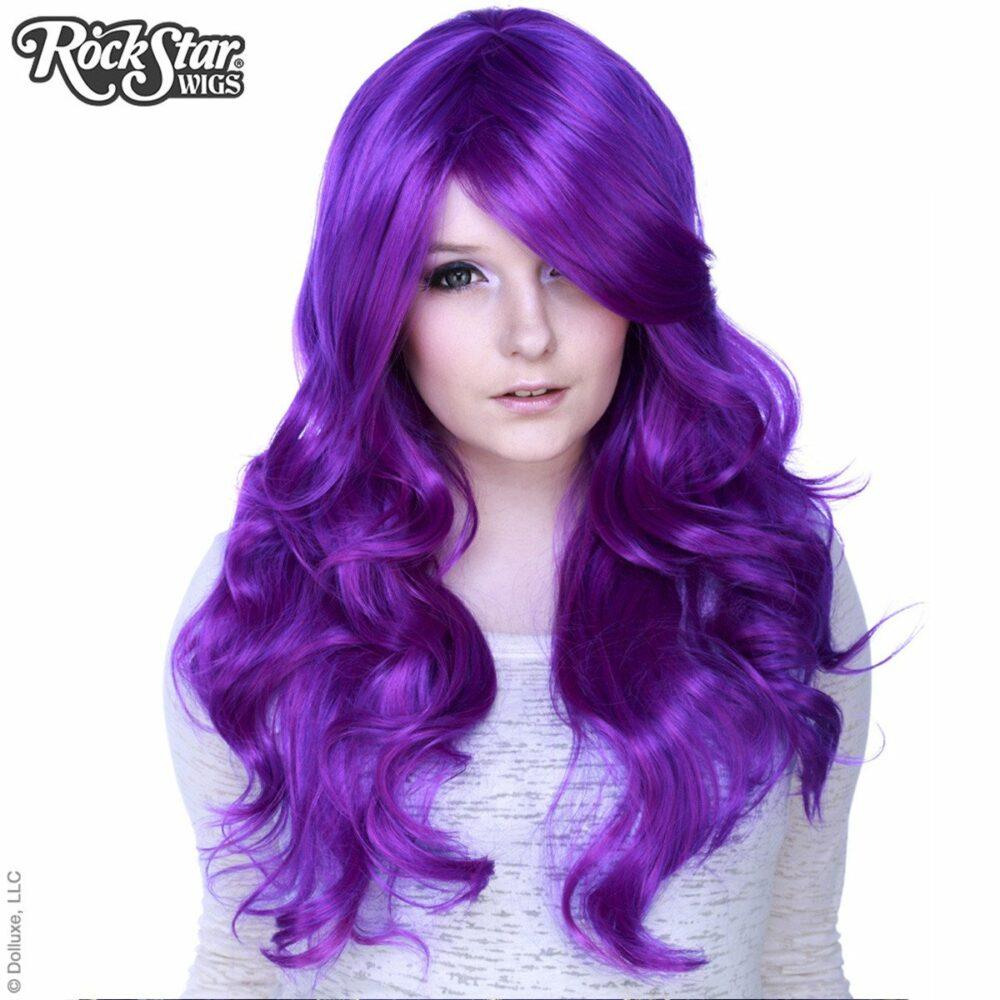 Perruque violette drag queen