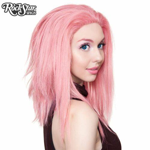 perruque lace front rose dégradée drag queen