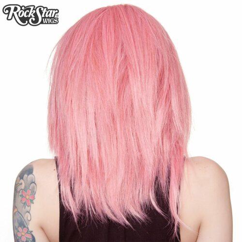 Perruque lace front rose dégradée arrière mèches pointues