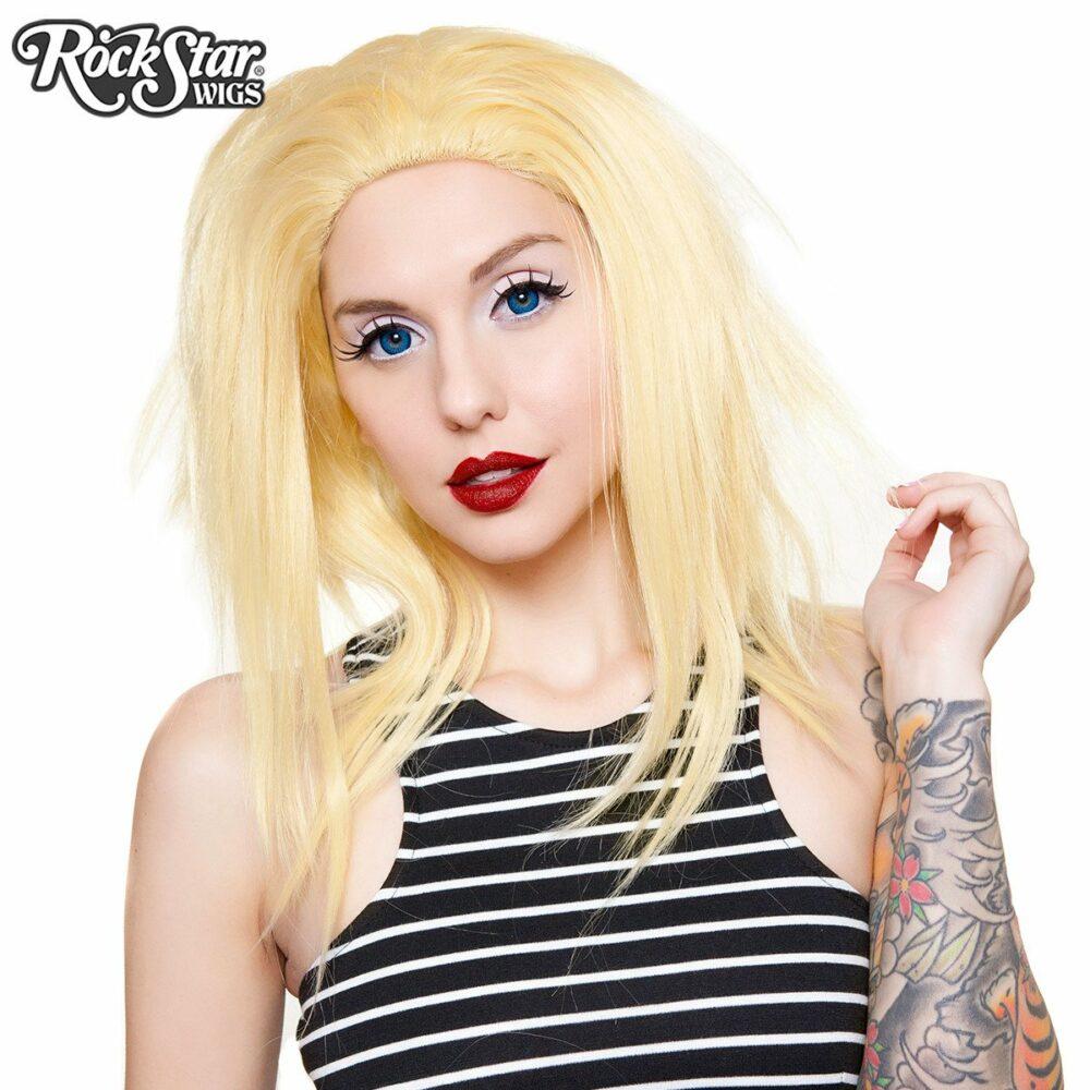 perruque lace front blonde dégradée drag queen