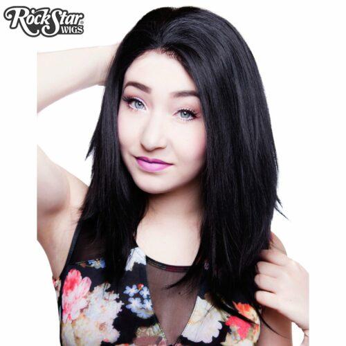 Perruque noire dégradée lace front femme homme