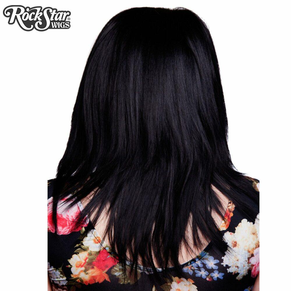 Perruque lace front noire dégradée arrière mèches pointues