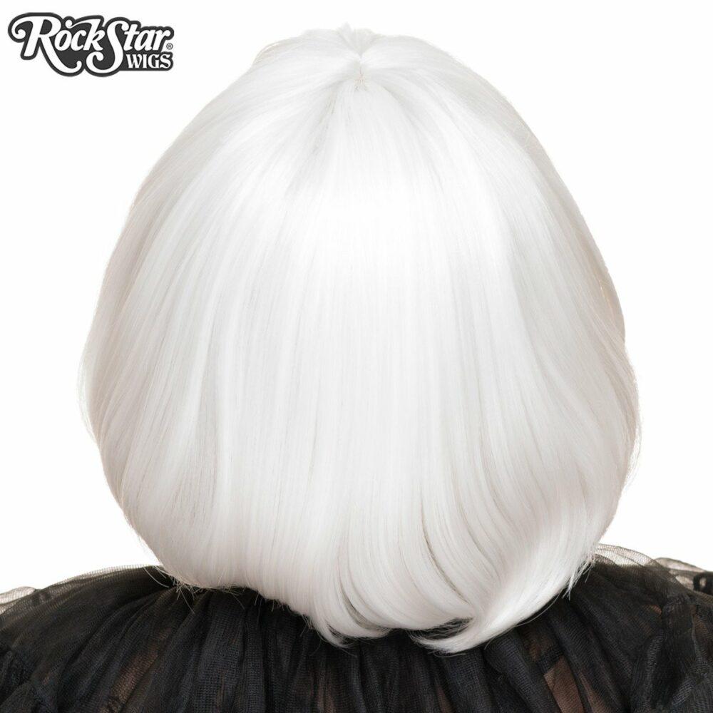 Perruque blanche arrière coupe droite