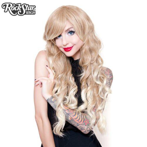 perruque blonde ondulée femme homme