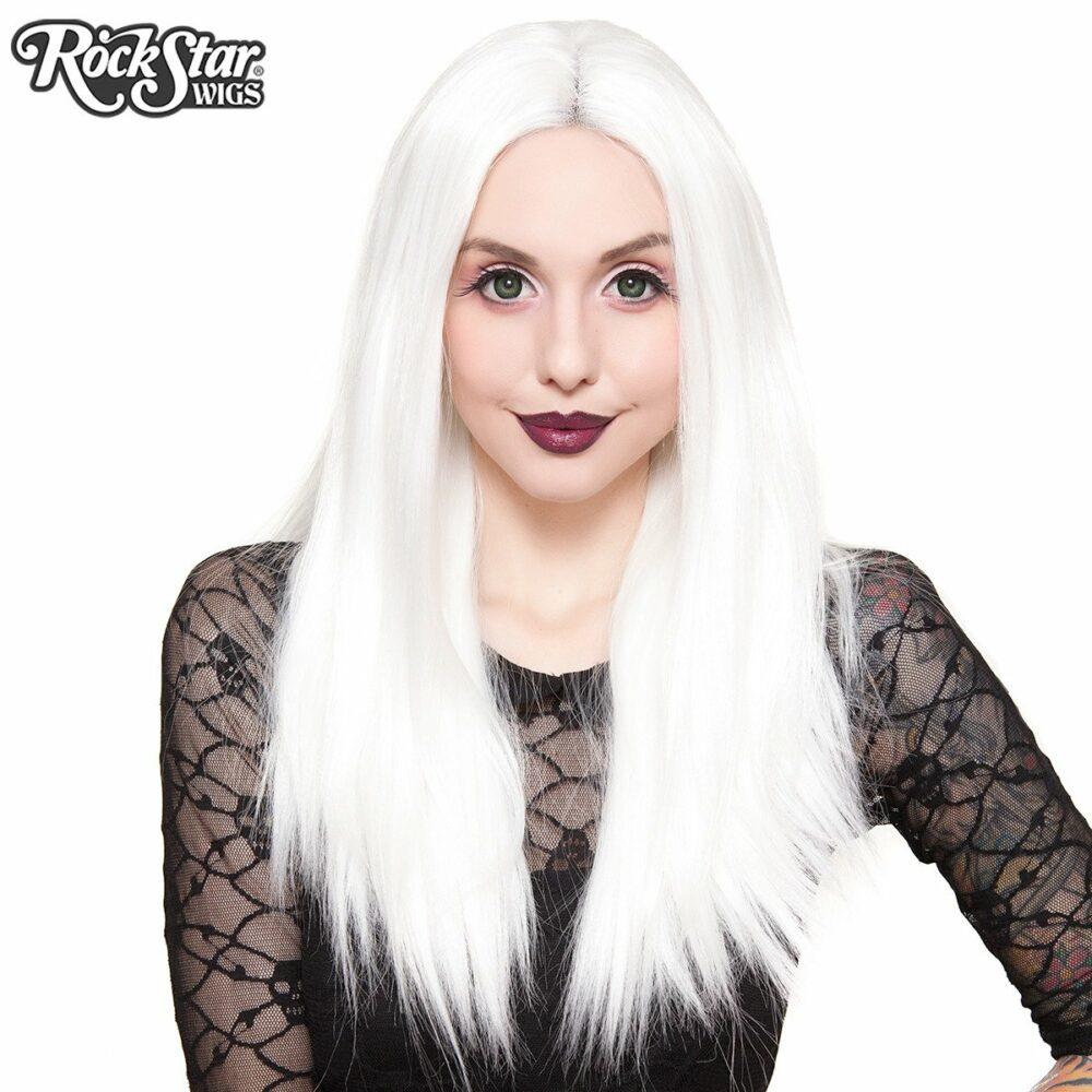 Perruque blanche lace front femme homme