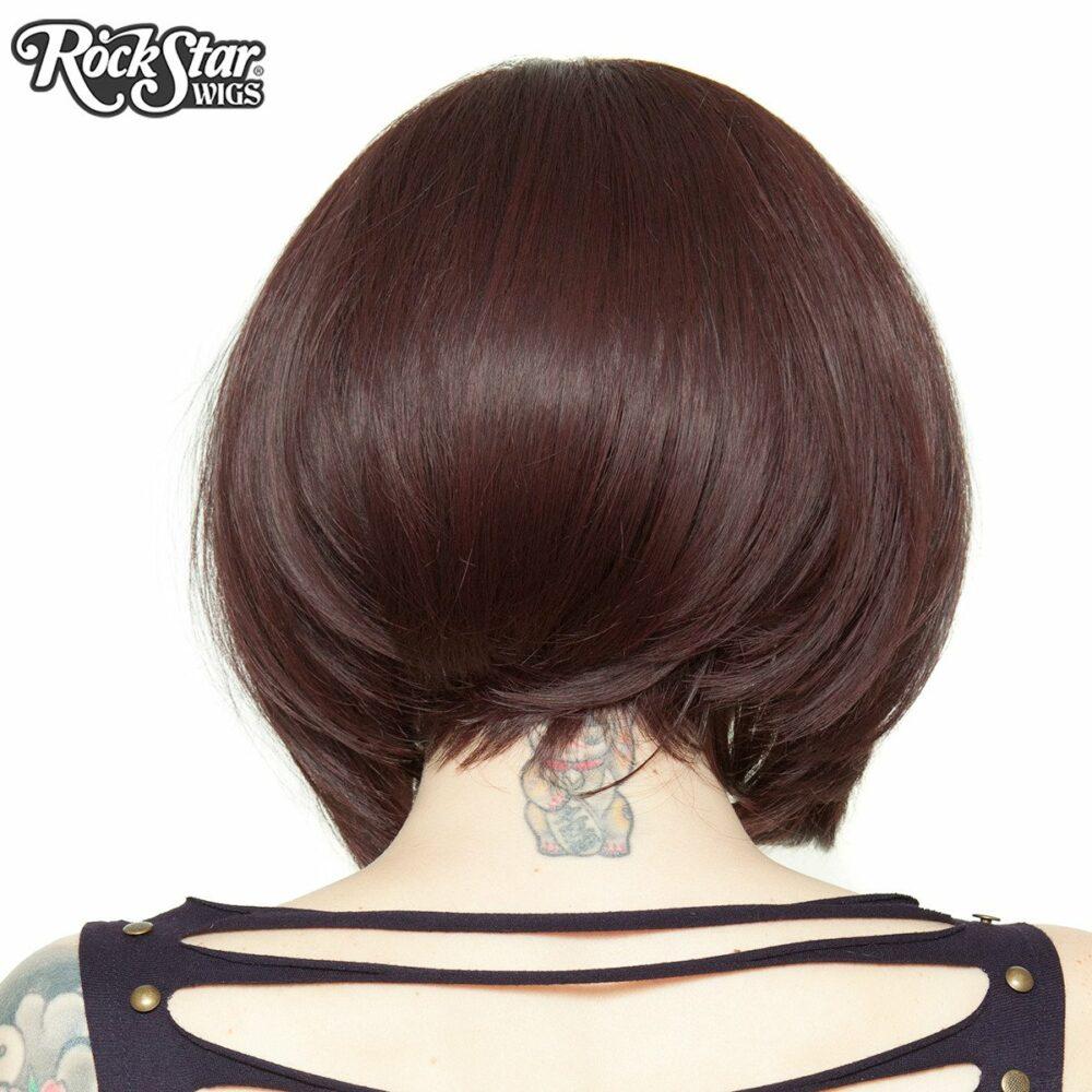 Perruque lace front auburn arrière coupe droite