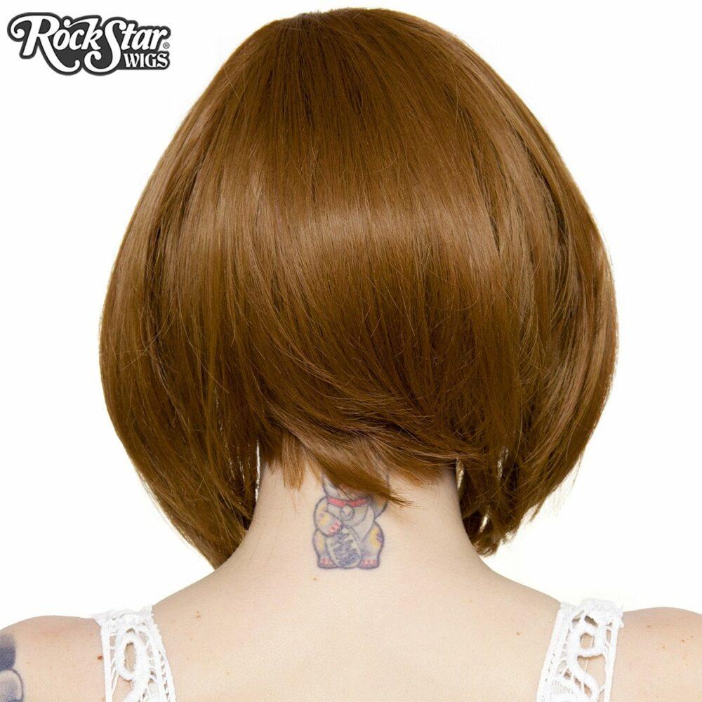 Perruque lace front châtain arrière coupe droite