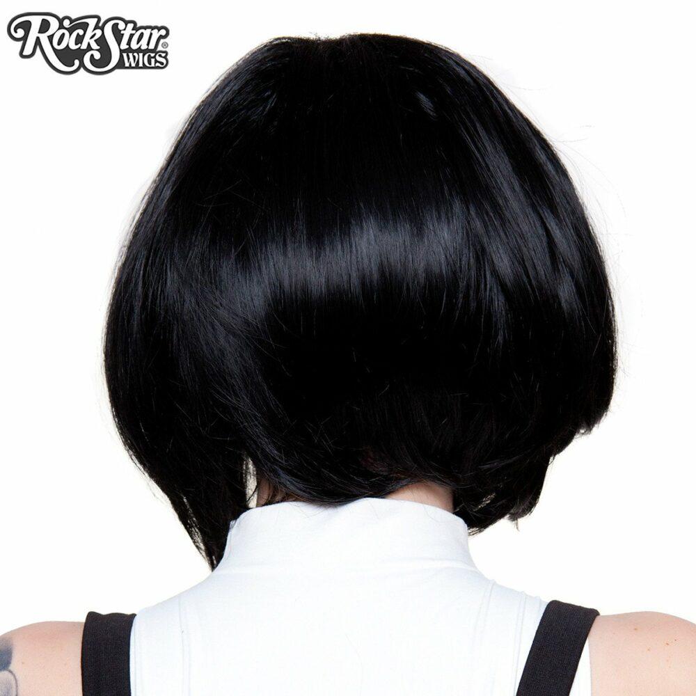 Perruque lace front noire arrière coupe droite