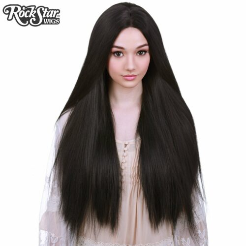 perruque noire longue yaki femme homme