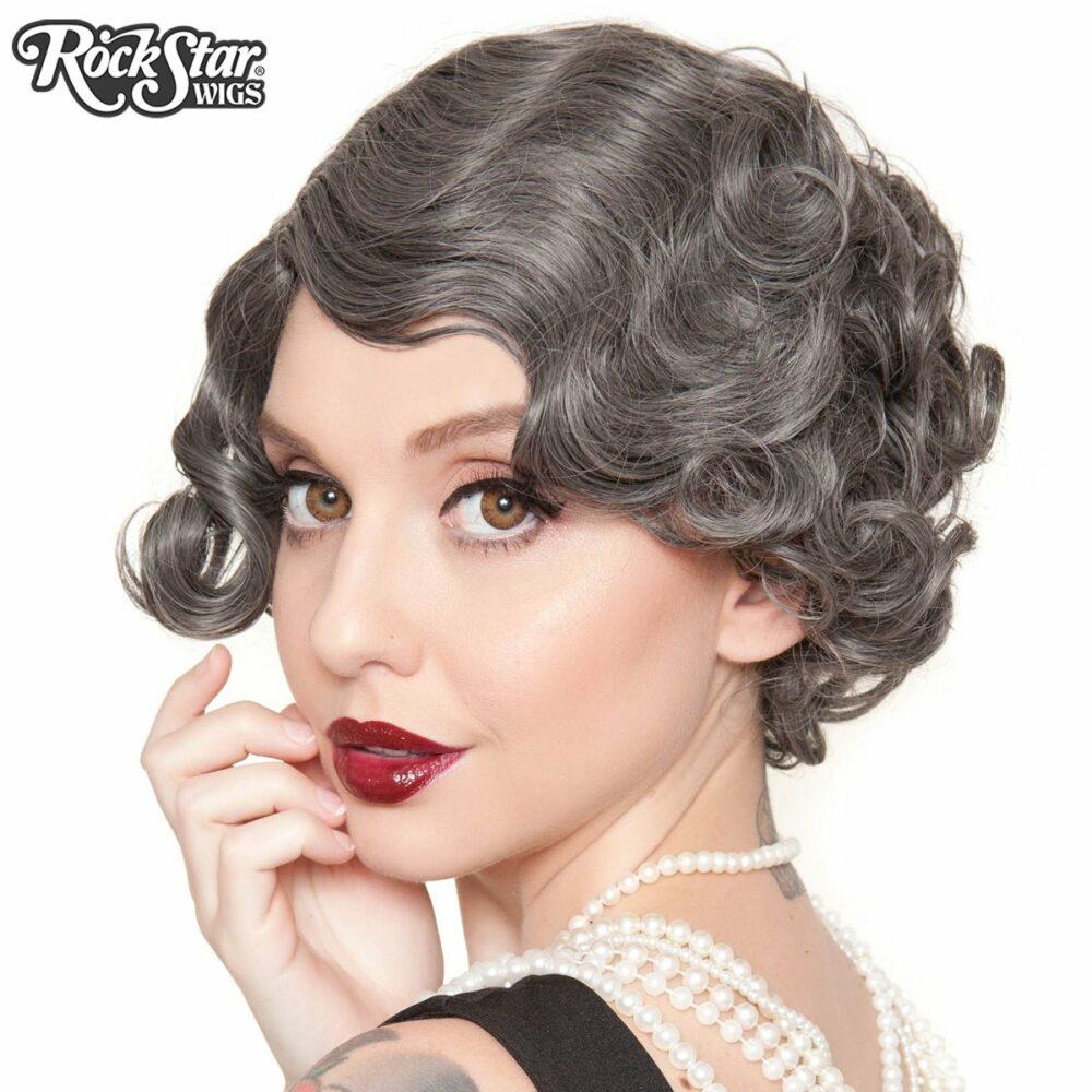 perruque grise courte retro drag queen