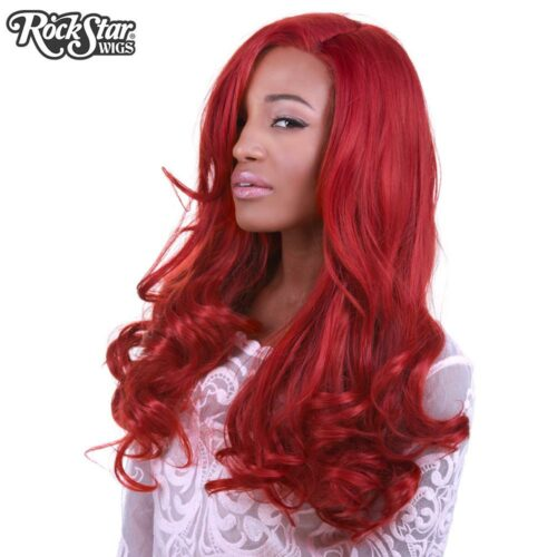Perruque rouge ondulée femme homme
