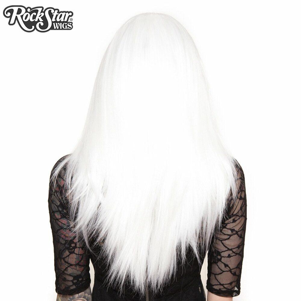 Perruque lace front blanche arrière coupe droite