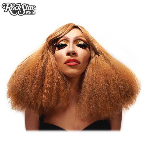 perruque transformiste caramel cheveux frisés afro