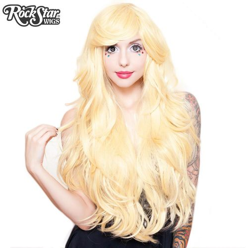 Perruque blonde longue transformiste