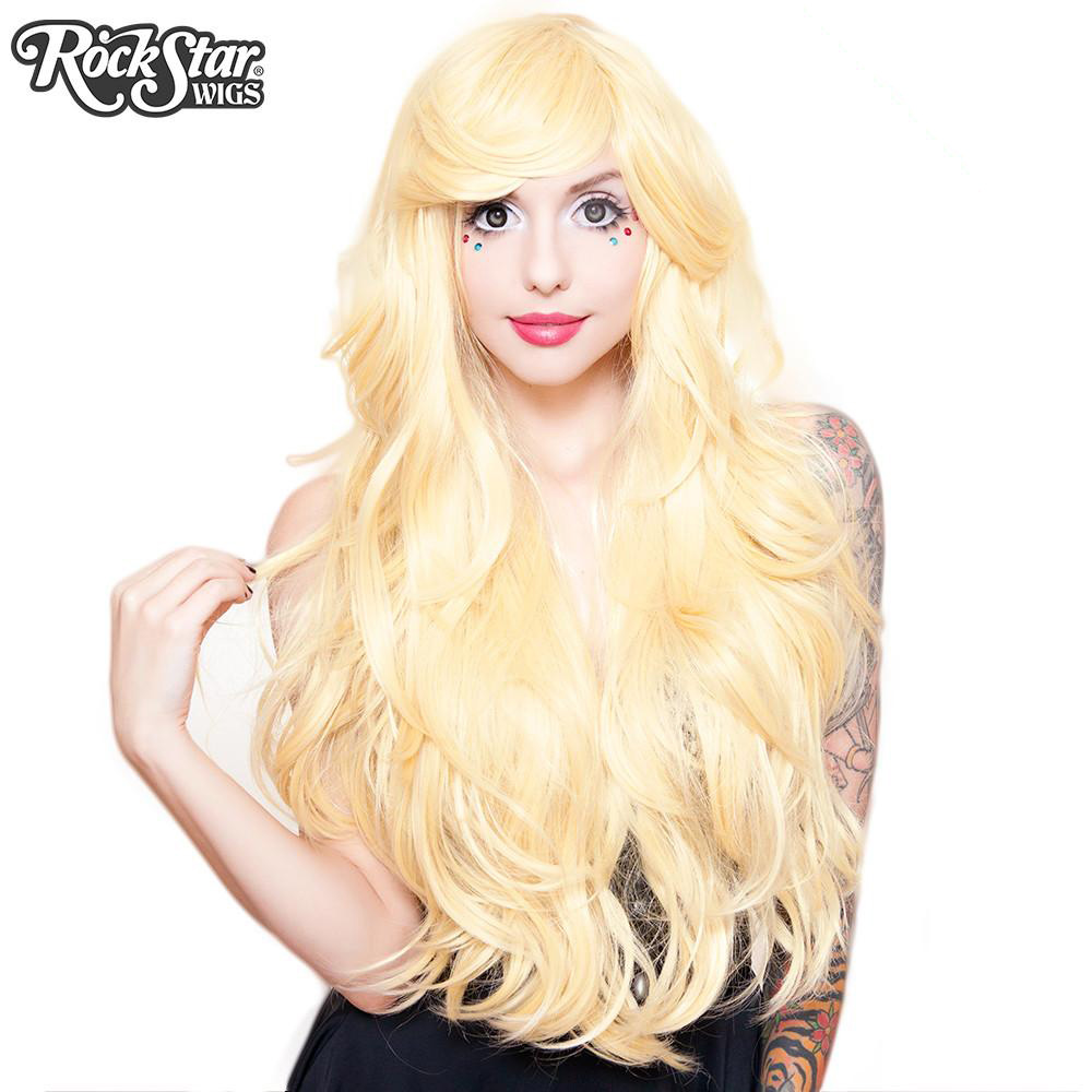 Perruque blonde longue transformiste
