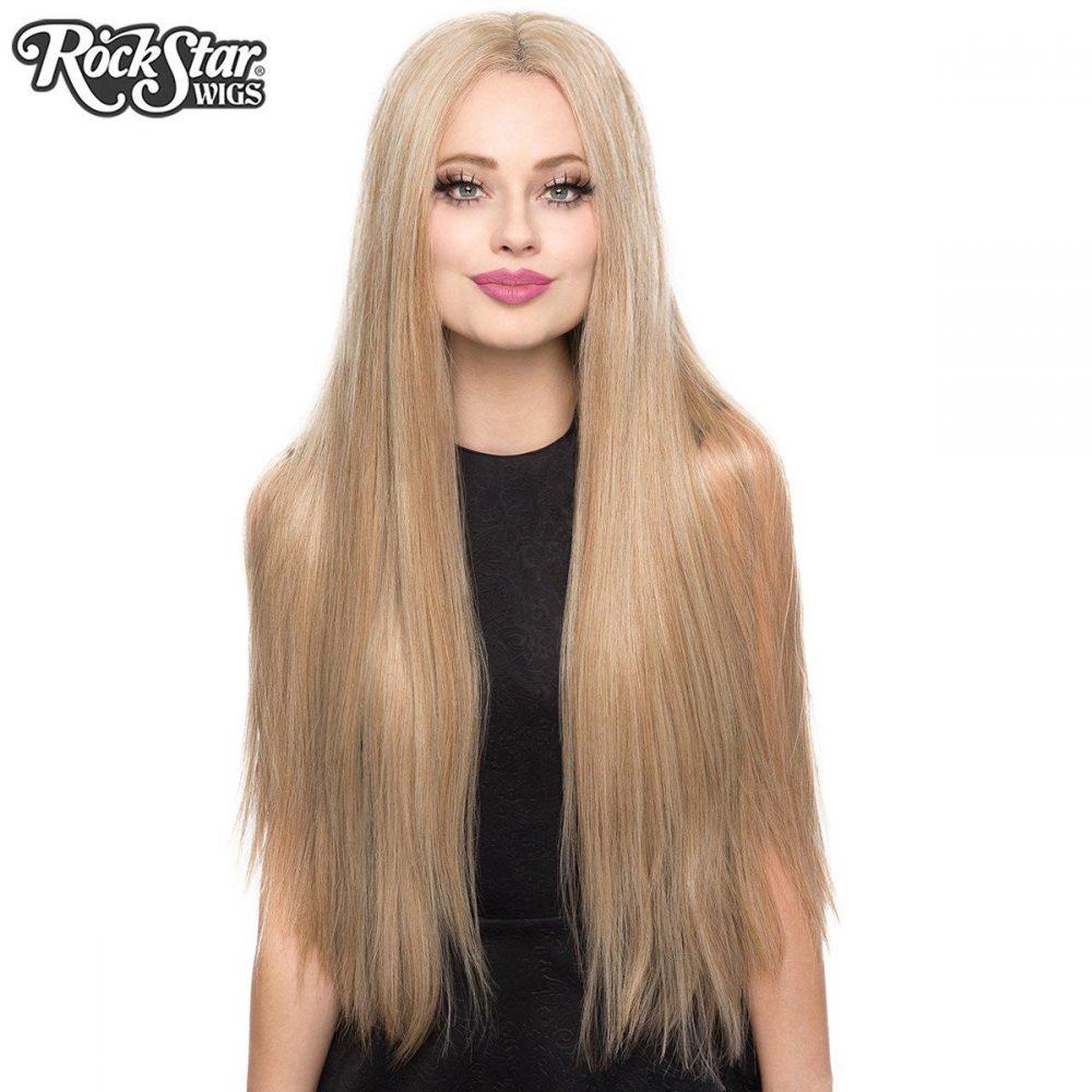 Perruque blonde longue yaki transformiste