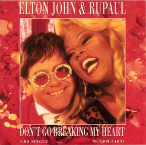 elton john et rupaul sur la pochette d'album